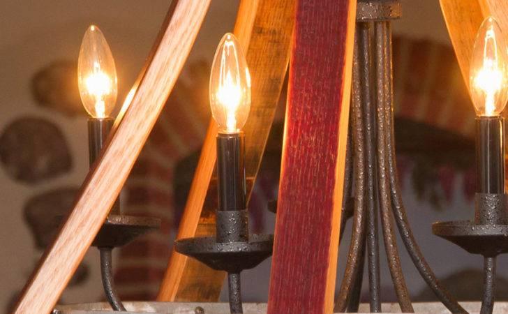 Wine Barrel Furniture Lighting Five Light