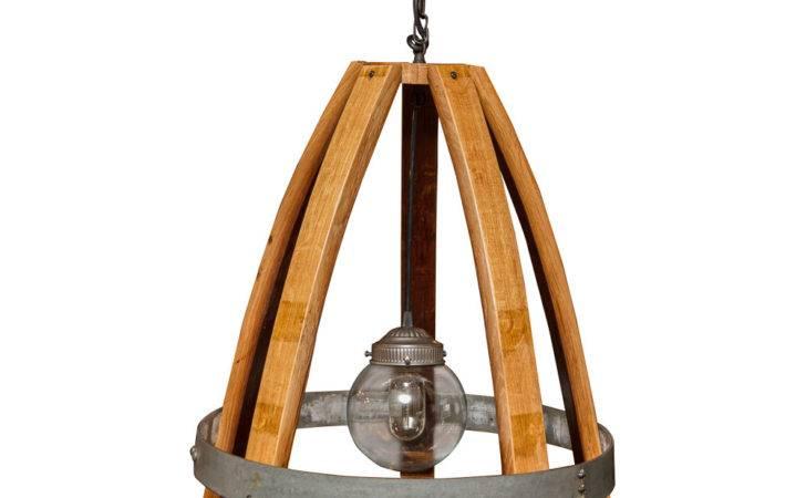Wine Barrel Furniture Lighting Glass Globe