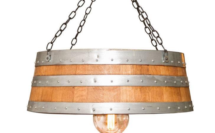 Wine Barrel Furniture Lighting Top