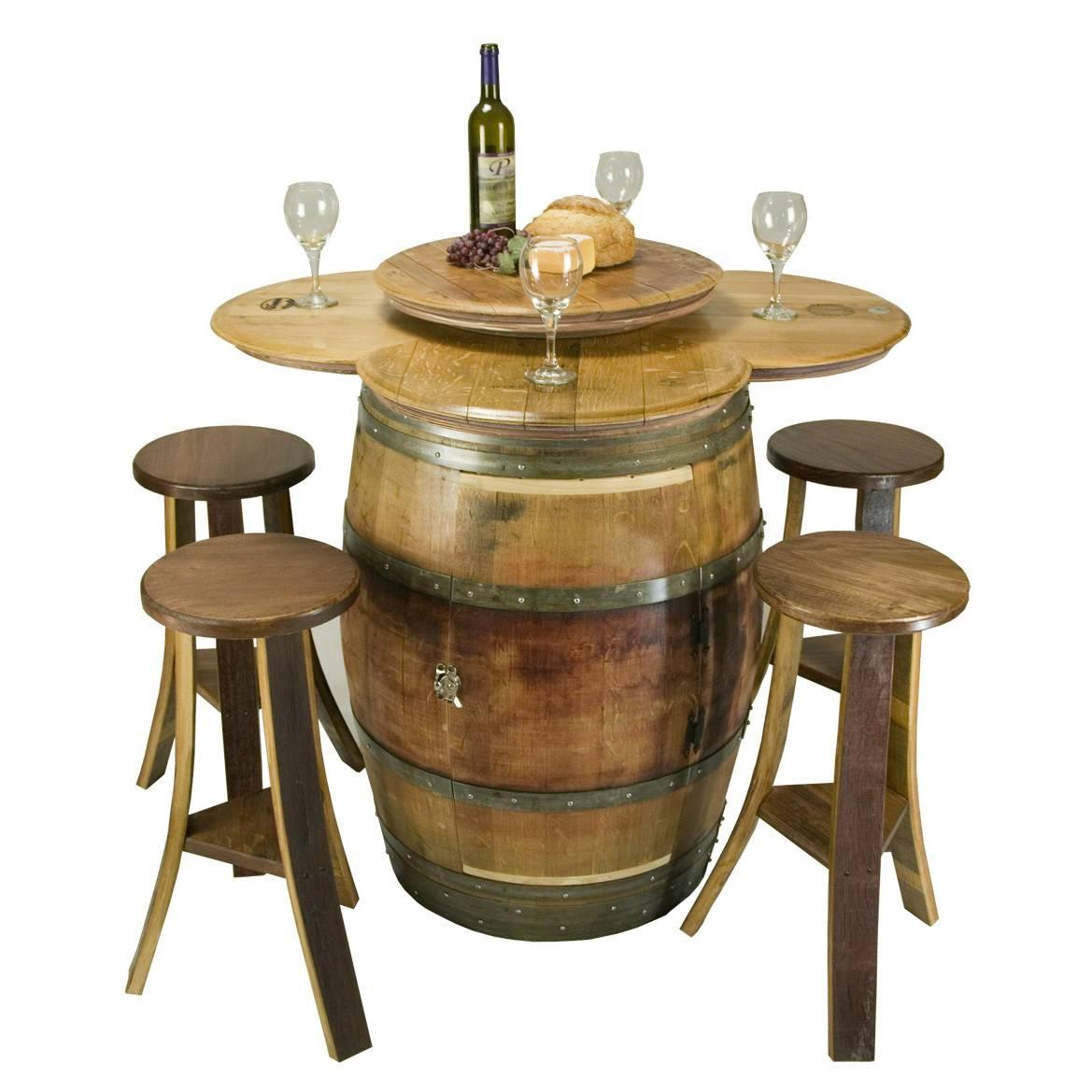Wine Barrel Furniture Tables Sets Table Set