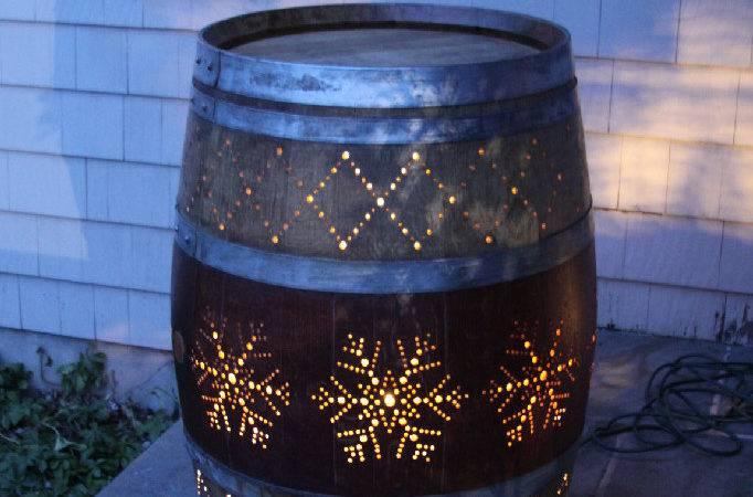 Wine Barrel Porch Light Creative Inspiration Get More