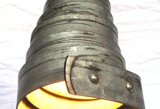 Wine Barrel Ring Hanging Pendant Light Crafted Napa