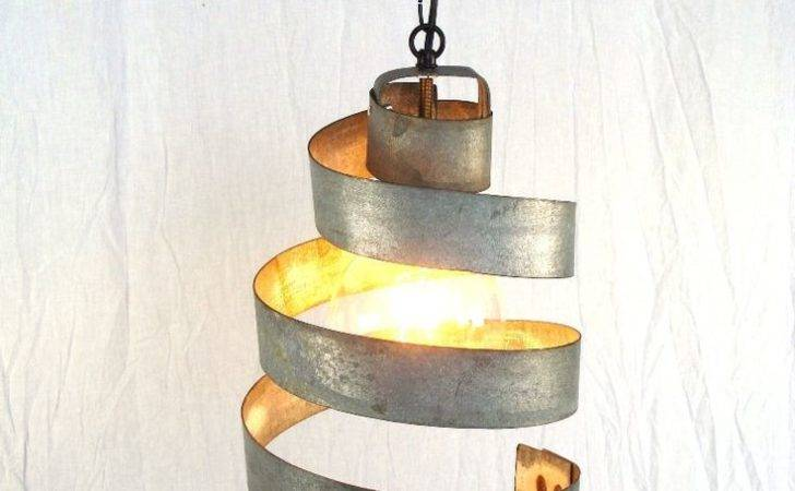 Wine Barrel Ring Hanging Pendant Light Large Open Recycled