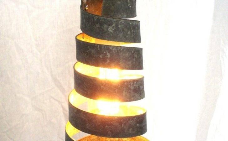 Wine Barrel Ring Hanging Pendant Light Open Recycled Napa