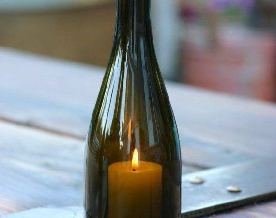 Wine Bottle Candle Diy