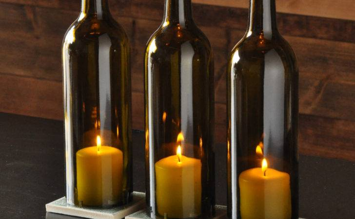 Wine Bottle Candle Holder Centerpieces