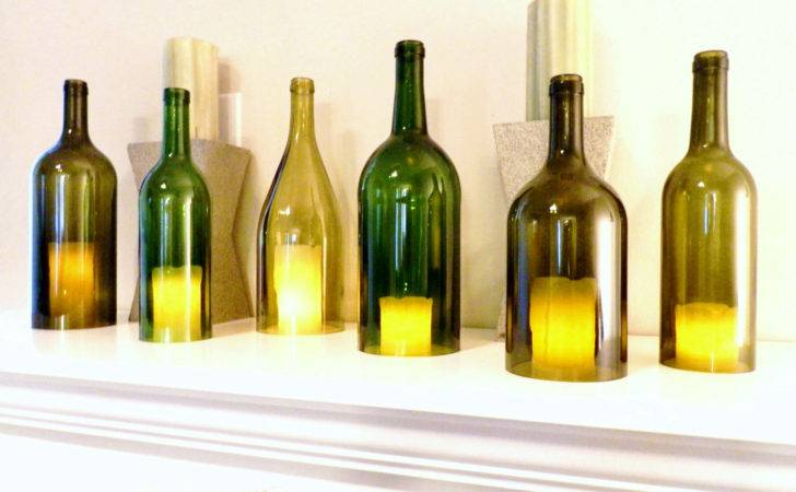 Wine Bottle Candle Holder Hurricane Lamp Cover