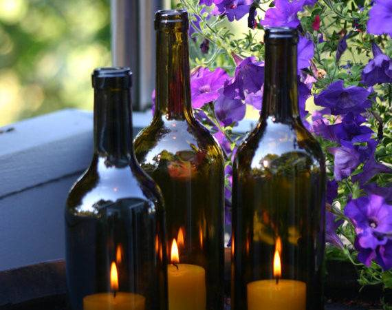 Wine Bottle Candle Holders Less Than Minute