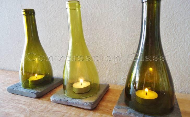Wine Bottle Candle Holders Tea Light Hurricane Lamps Lanterns
