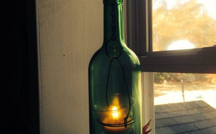 Wine Bottle Candle Things Have Made Pinterest