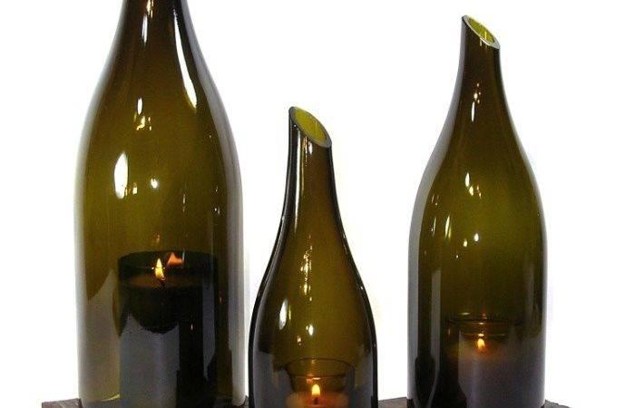 Wine Bottle Candles Bottles Pinterest