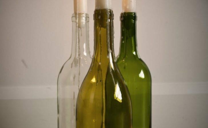 Wine Bottle Candles Cocktails Made Pinterest