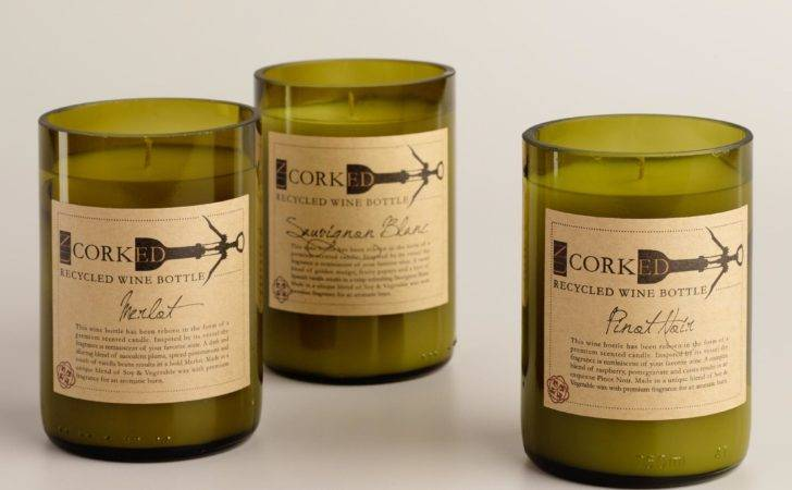 Wine Bottle Filled Candle World Market