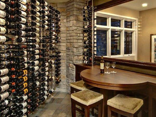 Wine Cellar Compact Seating Area Comes Handy Quick
