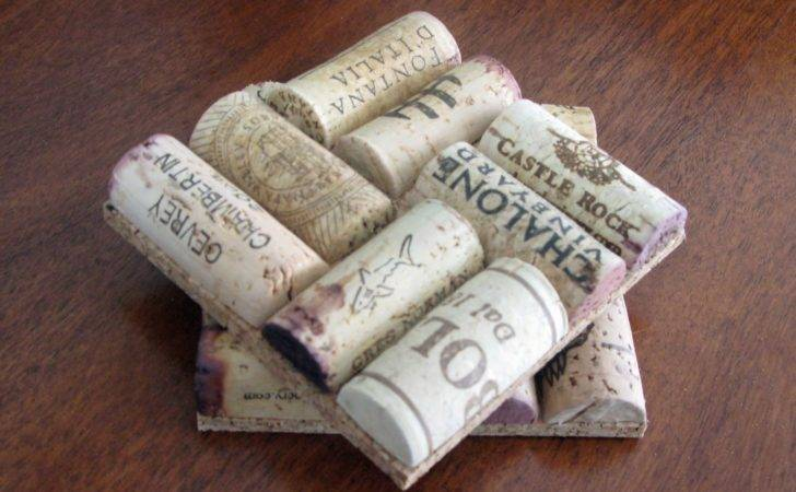 Wine Cork Coasters Guide Patterns