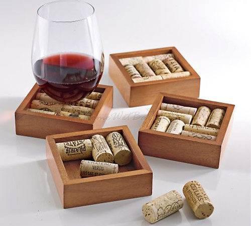 Wine Cork Drink Coasters Kit Set
