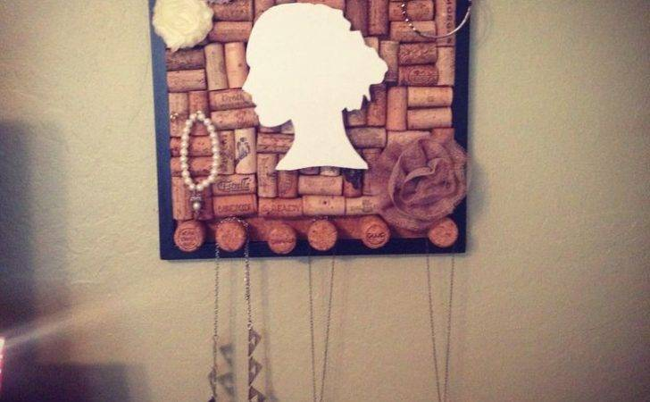 Wine Cork Jewelry Holder Diy Holders Pinterest
