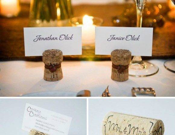 Wine Cork Name Place Holders Diy Ideas Pinterest