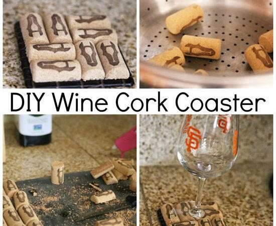 Wine Corks Used Four Per Coaster Plain Coasters