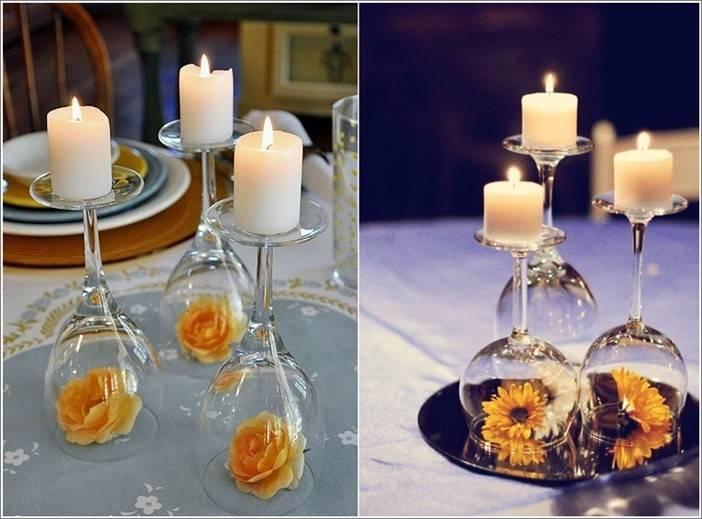 Wine Glass Decoration Ideas Diy Inverted Centerpieces