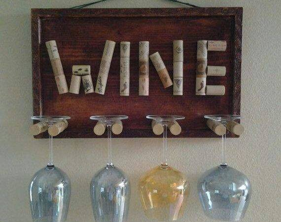 Wine Glass Holder Craft Ideas Pinterest