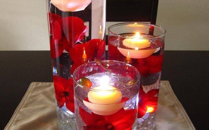 Wine Glasses Turned Into Candle Holders Inside
