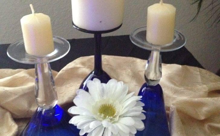 Wine Martini Champagne Glass Centerpiece Diy Flower