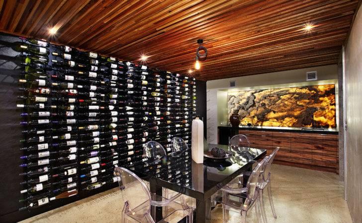 Wine Rack Decorating Ideas Cellar Contemporary Design