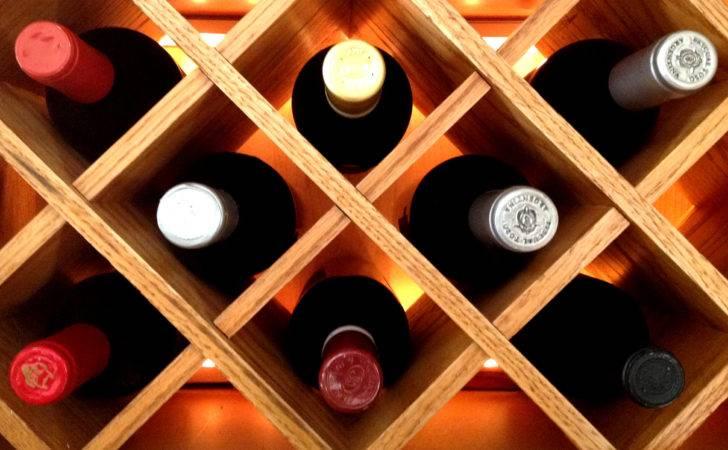 Wine Rack Made Lattice