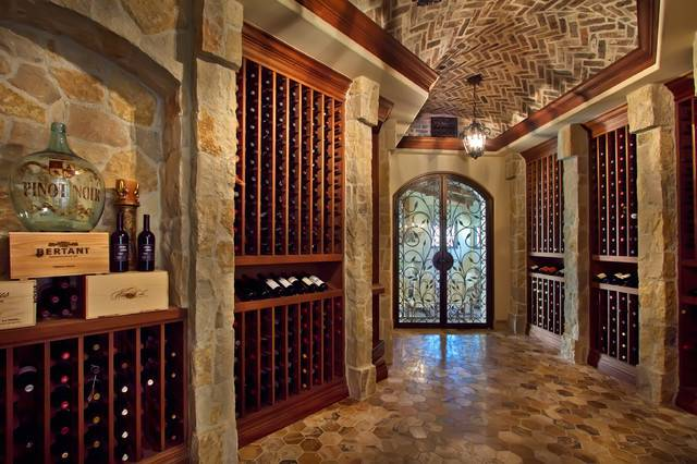 Wine Room Designed Susan Spath Traditional Cellar Other