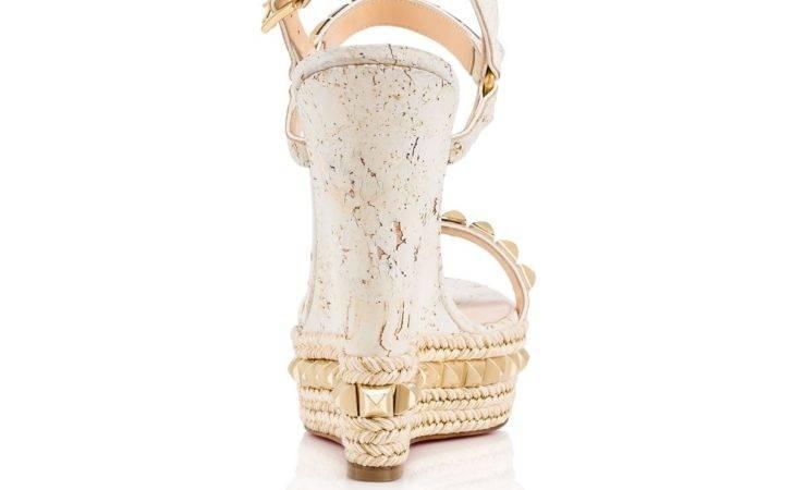 Womens Sandals Christian Louboutin Cataclou White Cork