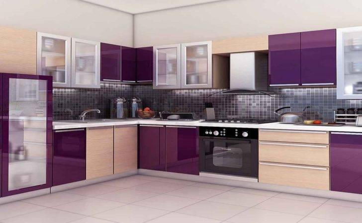 Wonderful Kitchen Design Idea Purple Cream Cabinet
