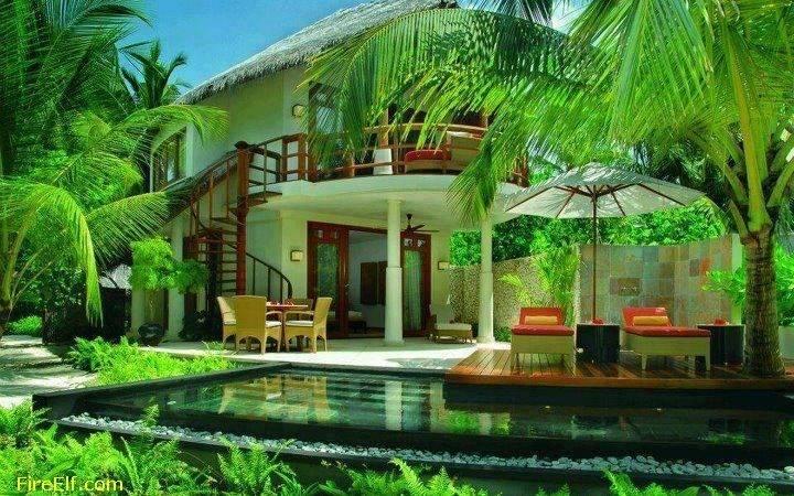 Wonderful Tropical House Bali Interesting Places Visit Fire