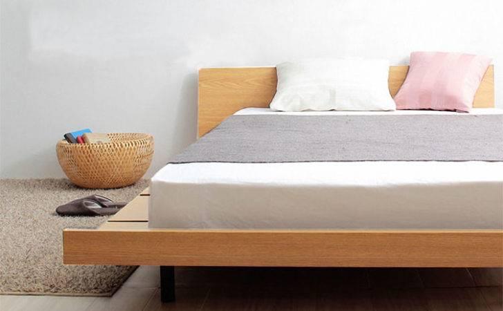 Wood Bed Frame Singapore Platform Amaya