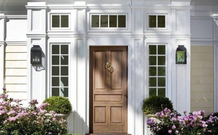 Wood Doors Front Stoop