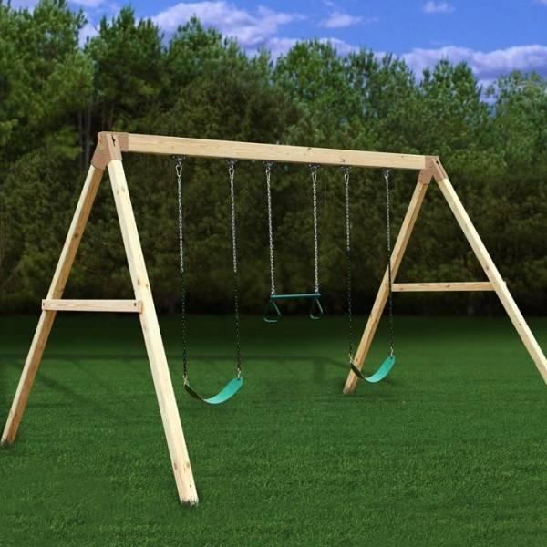 Wood Idea Diy Wooden Swing Set Plans Pdf