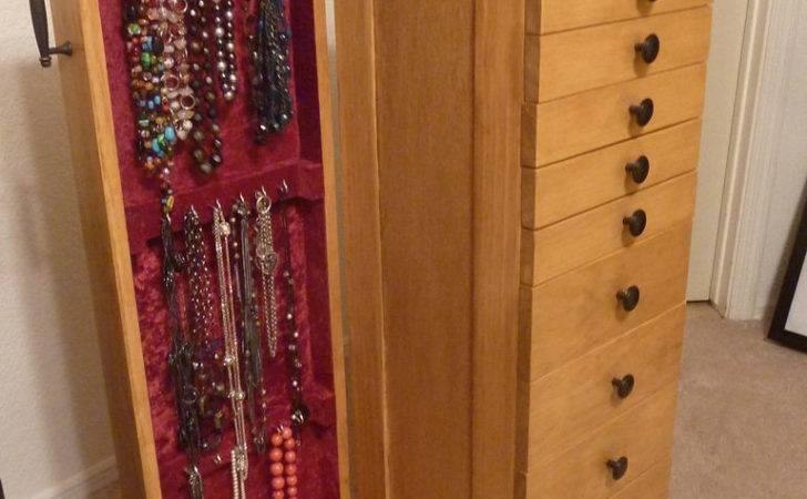 Wood Jewelry Armoire Design Storage Furniture Handpainting