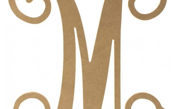 Wood Letter Vine Monogram Craftoutlet
