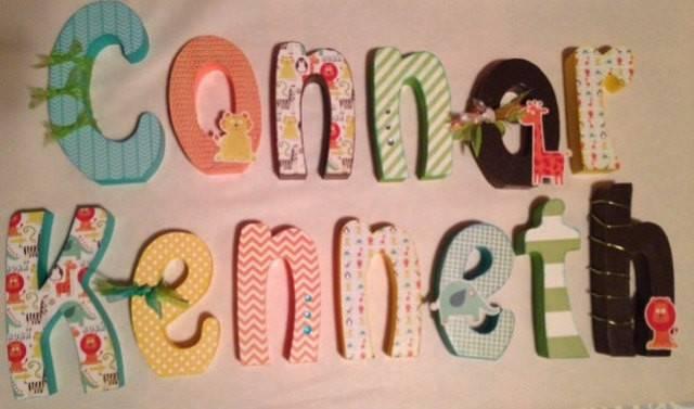 Wood Letters Custom Nursery