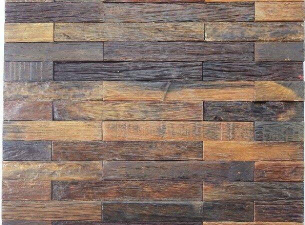 Wood Mosaic Tiles Natural Tile Rustic Wall