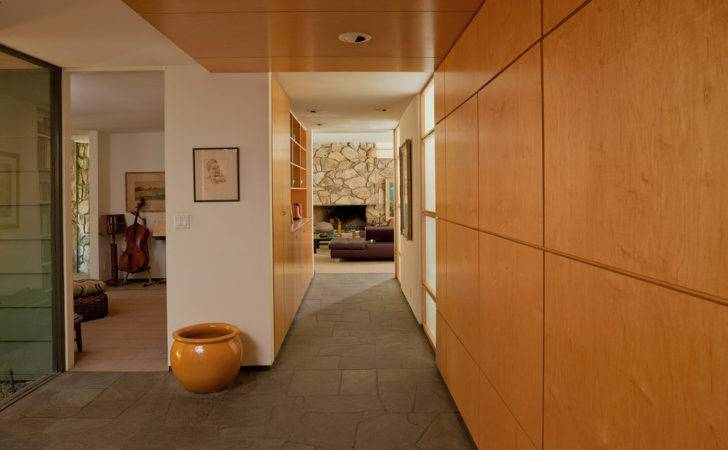 Wood Paneling Ideas Hall Contemporary Built