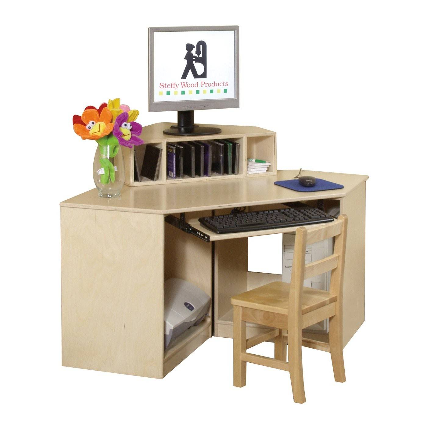 Wood Products Swp Corner Computer Center Kids Desk Atg Stores
