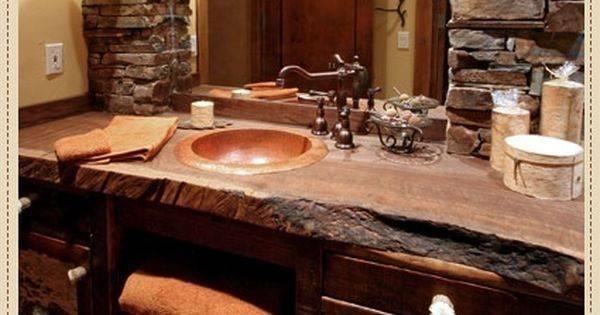 Wood Rustic Countertop Ideas Bathrooms Decor Logs Countertops