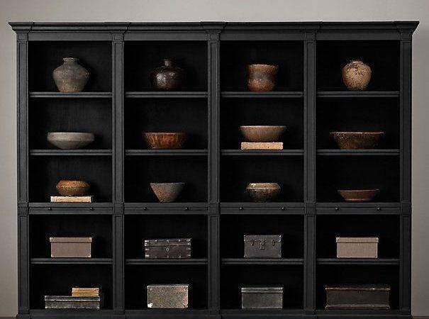 Wood Shelving Cabinets Restoration Hardware Books Days