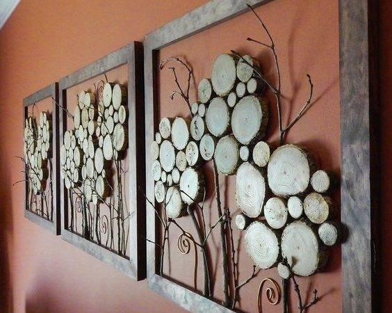 Wood Slice Framed Art