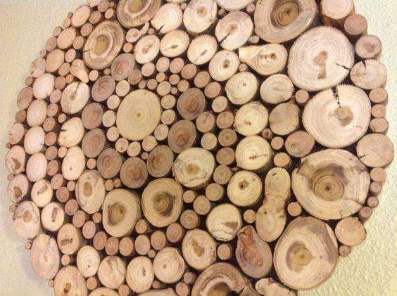 Wood Slices Art Sliced Slice Wall Round