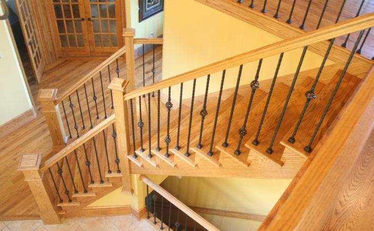 Wood Stairs Handrails Yes Build Pine Basement All