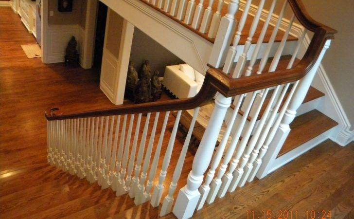Wood Stairs Rails Iron Balusters Handrail Post Stair