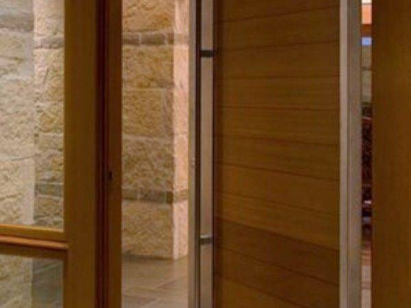 Wood Steel Pivot Door Adelaide Home Improvements