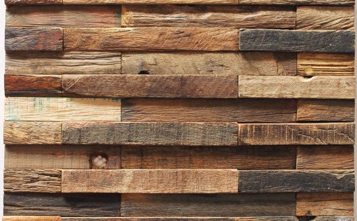 Wood Wall Tiles Mosaic Feature Decorative